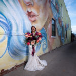 Gorgeous Bride and Mural at The Gressiwick