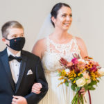 Bride and son at The Gressiwick in Downtown Loveland