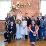 Happy family at wedding